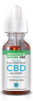 Absolute nature CBD review 1000mg product image