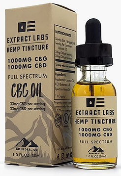 Extract Labs CBG bottle with product information and recommended best cbg oil