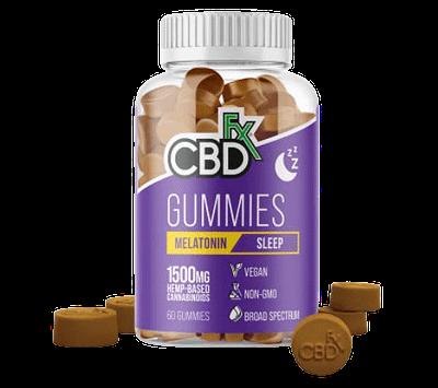Best CBD gummies for sleep: CBDfx CBD gummies for sleep come in a plastic purple bottle.